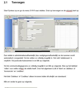 Een voorbeeldpagina van een handleiding